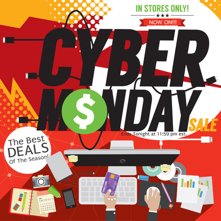 Colorful Cyber Monday  Illustration Illustration
