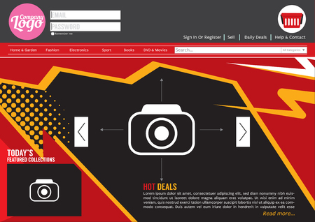 home page: Home Page Website Template Illustration Illustration
