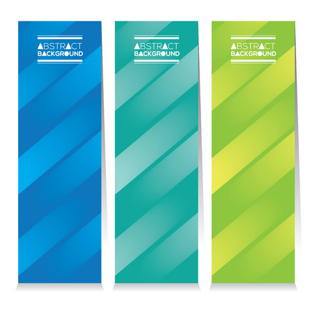 vector set: Modern Design Set Of Three Abstract Colorful Vertical Banners Vector Illustration