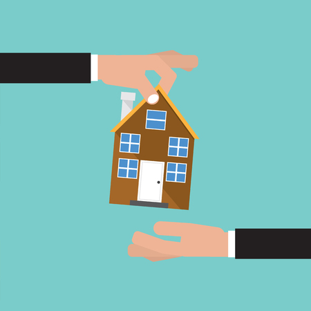 investment concept: Buying Home, Real Estate Investment Concept Vector Illustration Illustration