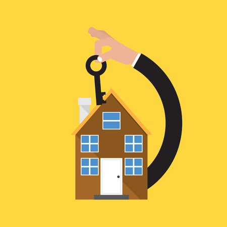 Home Buying Conceptual Vector Illustration. Illustration