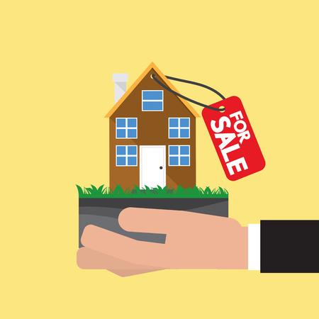 Real Estate For Sale Vector Illustration. Illustration