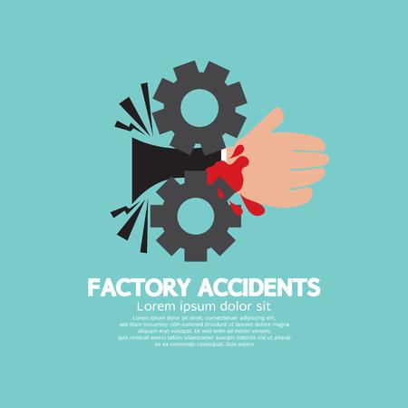 工場事故概念ベクトル イラスト。