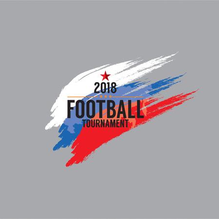 2018 サッカー選手権シンボル ベクトル図  イラスト・ベクター素材