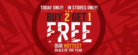 Buy 2 Get 1 Free Banner Vector Illustration