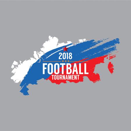 2018 축구 선수권 대회 상징 벡터 일러스트 레이션