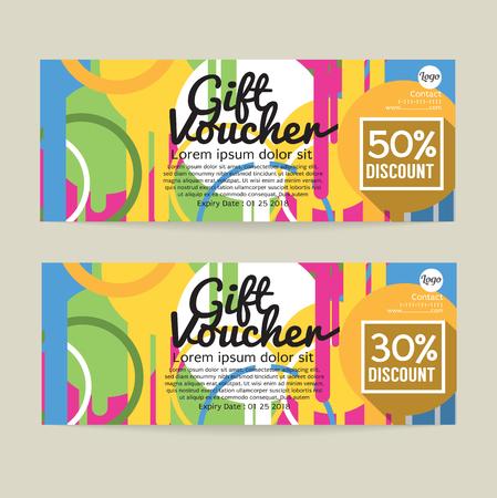 30 - 50 percent discount voucher Template, vector illustration. Çizim