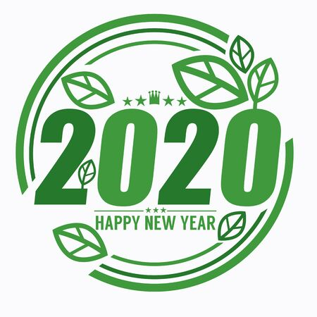 2020 Year Of Green Concept Environment Vector Illustration