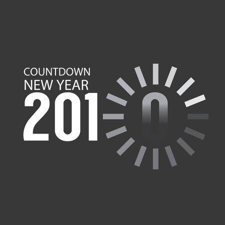2020 Countdown Loading Vector Illustration