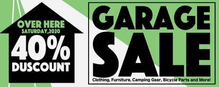 40 Percent Discount Garage Sale Square Banner, Drive Sales Concept Vector Illustration.