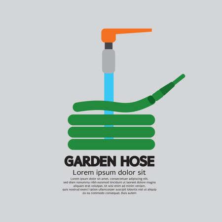 Garden Hose Sign Symbol Icon Vector Illustration.