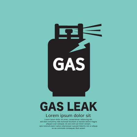 Gas Tank Leaky Black Icon Symbol Vector Illustration.