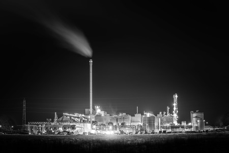 Factory in the night photo