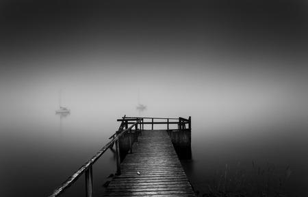 By the misty bay