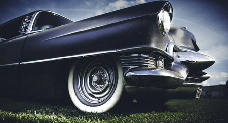 Oldtime american car with a vintage look and feel photo