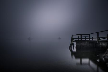 Misty sailors