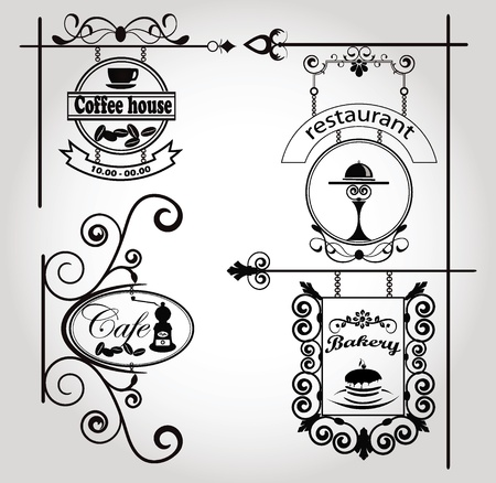 wrought iron: vintage signs