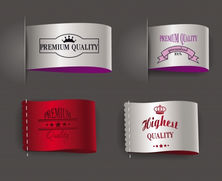 highest and premium quality labels  Vector