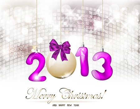 2013 Happy New Year greeting card Illustration