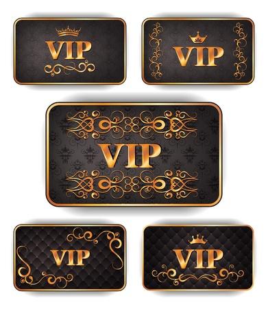 Elegant gold VIP cards