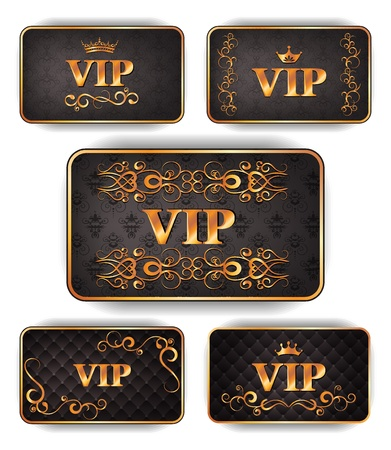 Elegant gold VIP cards  Vector