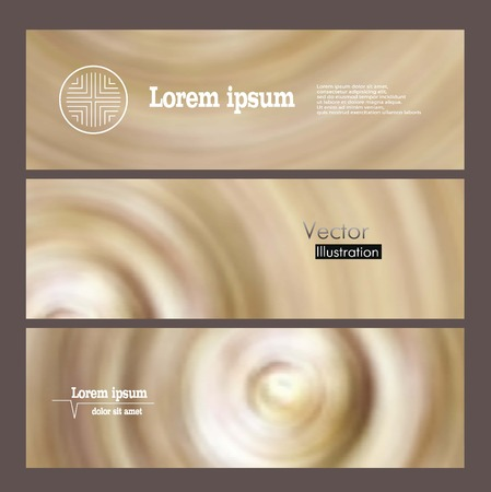 banners with round spiral design