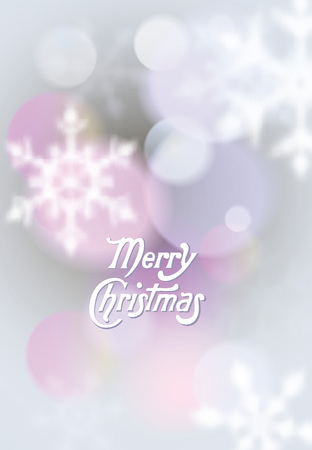 Christmas background with blurred snowflakes Illustration