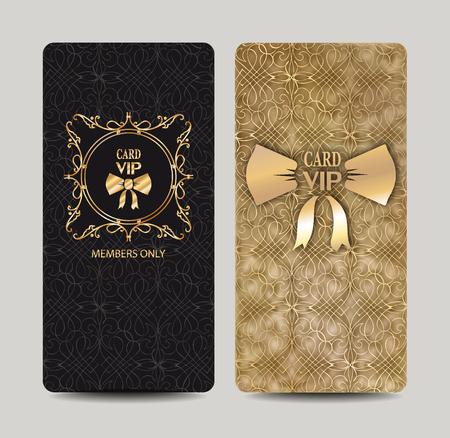Elegant VIP cards with floral design elements