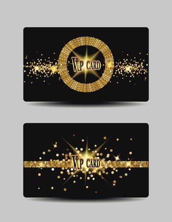 Glitter VIP gold cards