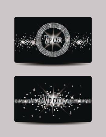 Glitter VIP silver cards