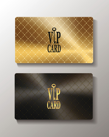 access card: Gold metallic textured cards Illustration