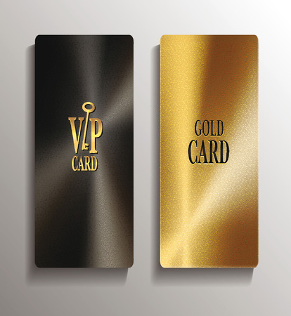 Gold vertical textured vip cards