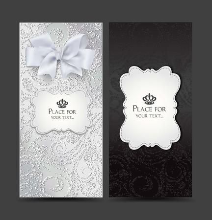 Elegant cards with floral design Illustration