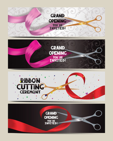 Set of grand opening cards
