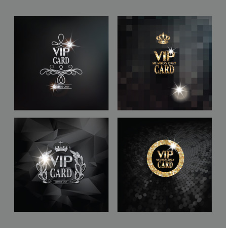 platinum: Set of VIP cards Illustration
