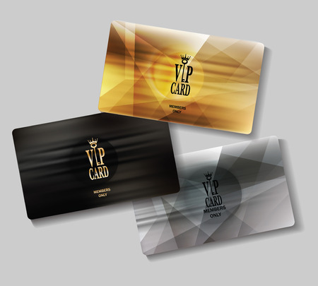 plastic card: Set of VIP cards with abstract pattern