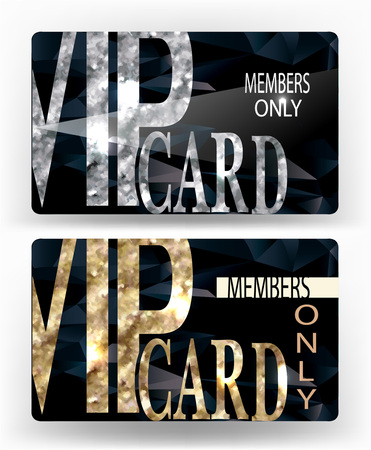 Set of VIP cards with gold textured elements 版權商用圖片 - 55937000