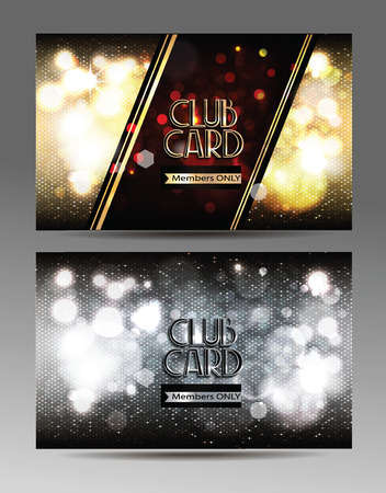 platinum: VIP shiny club cards with abstract background