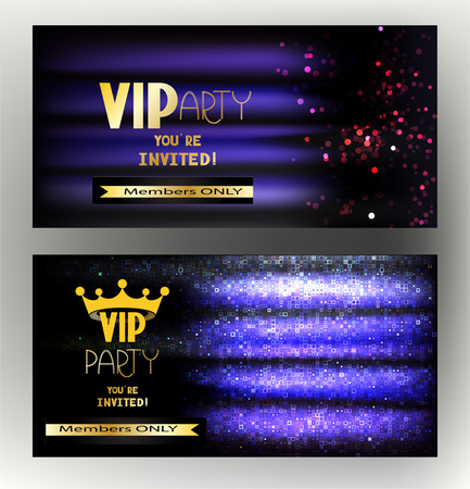exclusive: VIP invitation card with shiny absrtact background