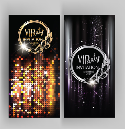 VIP party invitation card with abstract sparkling background Stock Photo