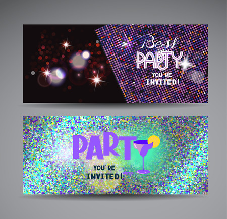 colorful bright party invitation cards royalty free cliparts