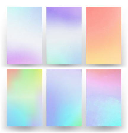 Set of abstract colorful cards Illustration