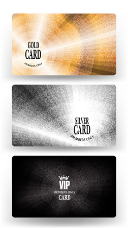 platinum: Vip cards with metallic texture. Vector illustration Illustration