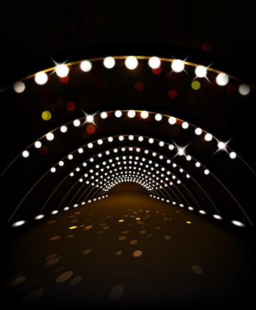 Stage illumination. Holiday background. Vector illustration