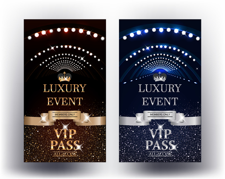 Luxury event elegant Vip Passes. Vector illustration