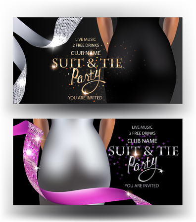 Suit and tie party banners