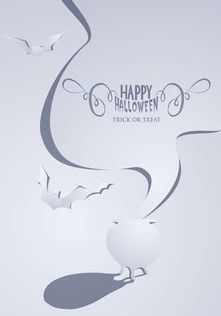 Halloween background with paper elements. Vector Illustration