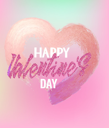 Abstract design valentines day card with heart shaped stroke. Vector illustration