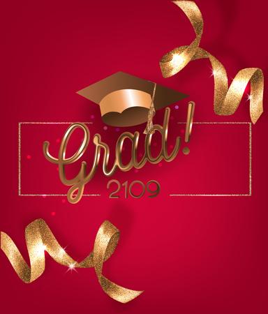Graduation 2019 Vector illustration Stock Illustratie