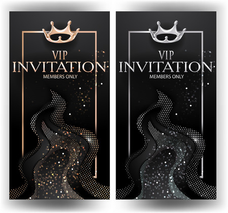 VIP Cards and Abstract Design Elements. Vector illustration
